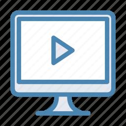 media, mov, movie, play, player, video, youtube icon