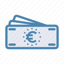 bills, cash, credit, euro, finance, money icon