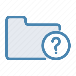 folder, help, info, information, question icon