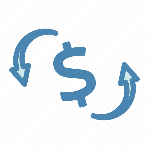 banking, currency, dollar, finance, financial, payment, refresh icon