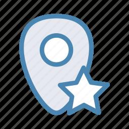 favorit, geo, location, navigation, pin, star icon