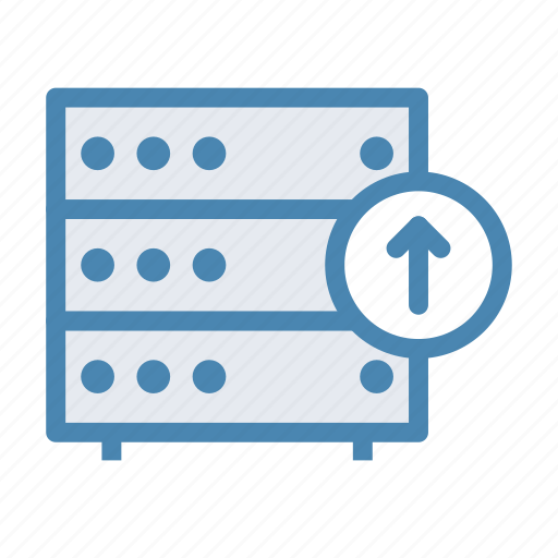database, download, server, storage, up, upload icon