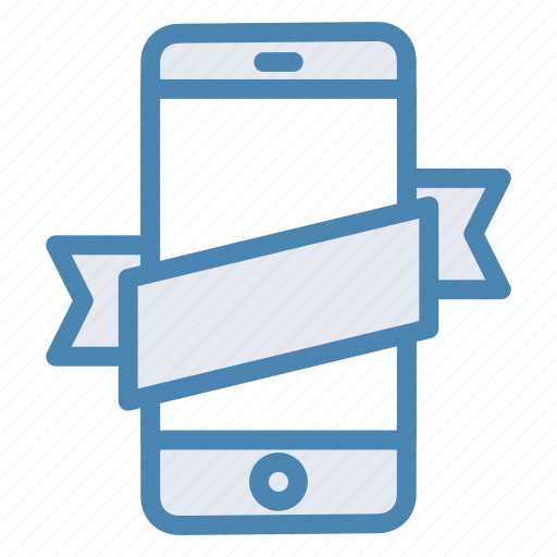 mobile, online store, phone, smartphone, tape icon