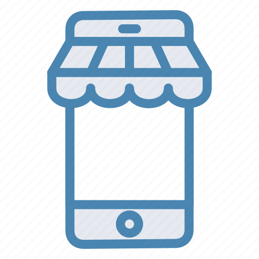 market, mobile, online store, phone, shopping, store icon