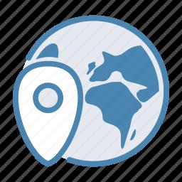 internet, map, marker, pin, travel, traveling, world icon