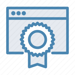 achievement, award, browser, medal, prize, reward, website icon