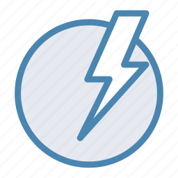 electric, electricity, energy, lightning, power, storm icon