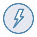battery, electric, electricity, energy, lightning, power, storm icon