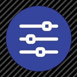adjust, adjust horizontal, controls, horizontal, sliders icon