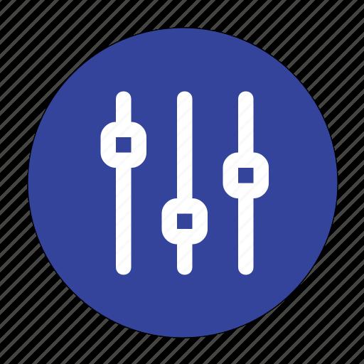 adjust, adjust verticle, controls, sliders, verticle icon