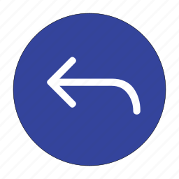 arrow, back, direction, go back, left, navigation, previous icon