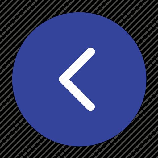 arrow, backward, direction, left, navigation, previos icon