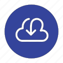 arrow, cloud, down, download, guardar, save icon