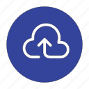 arrow, cloud, direction, top, up, upload icon