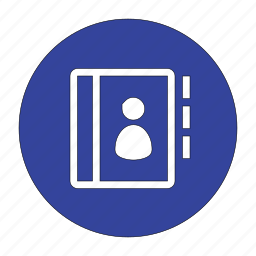 address, avatar, book, contact, diary, phone, user icon