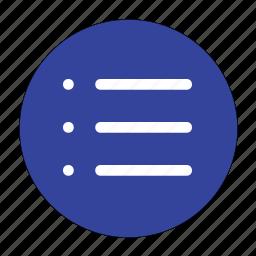 items, list, menu icon
