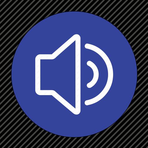 audio, control, media, player, sound, speaker, volume icon