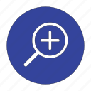 explore, glass, out, search, zoom, zoom out icon