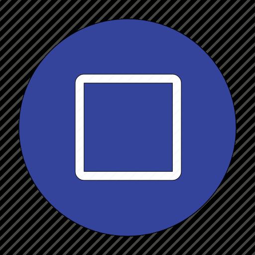 checkbox, empty, logo, square icon