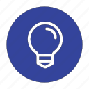 bulb, electric, energy, idea, ideas, lamp, light icon