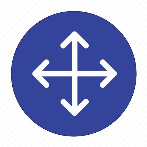 direction, move, navigation, shape icon