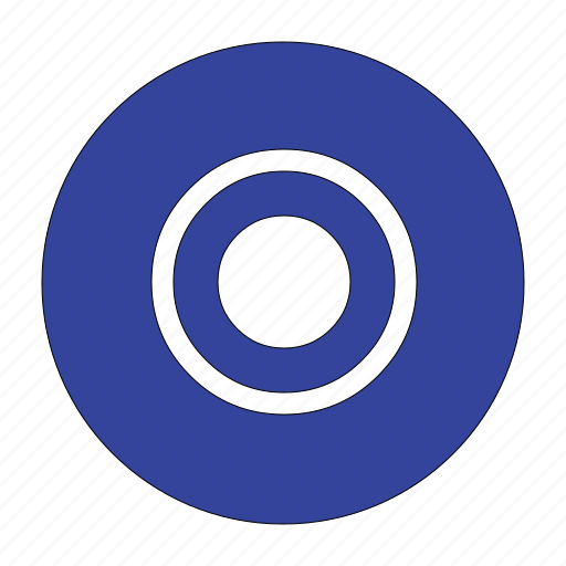 checked, circle, circular, radio, selected, shape, signal icon