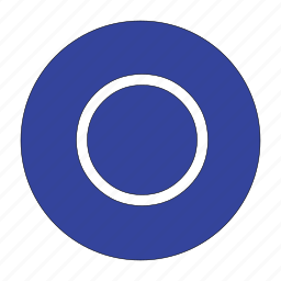 circle, circular, radio, round, shape, unchecked icon