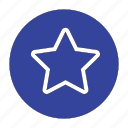 amazing, circle, popular, rating, star icon
