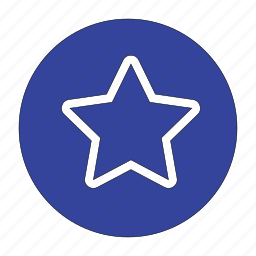 amazing, circle, popular, rating, star icon