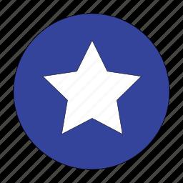 bookmark, circle, creative, favorite, shape, star icon