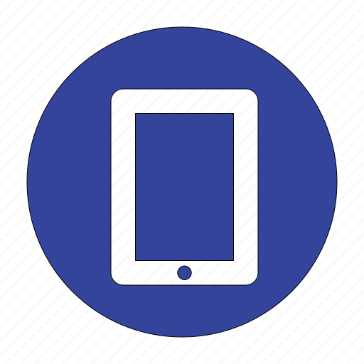 blue, mobile, phone, smart, smartphone, tablet, telephone icon