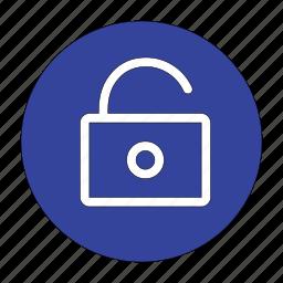 access, key, lock, open, password, security, unlock icon