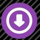arrow, bottom, control, navigation, ui icon