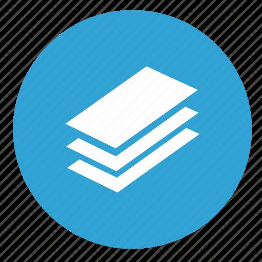 docs, documents, layers, money, round icon