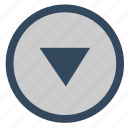 arrow, bottom, down, navigation icon