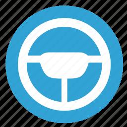 auto, car, driver, wheel icon
