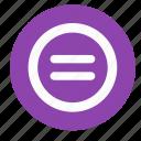 calculator, equally, round icon