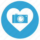 camera, heart, like, love, shot icon