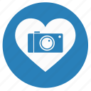 camera, heart, like, love, shot icon