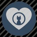cat, heart, kitty, like, love icon