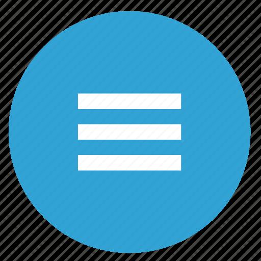 bar, list, menu, mobile, round icon