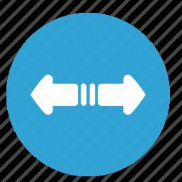 arrows, horizontal, left, motion, right icon
