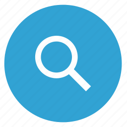 find, magnifier, round, search icon