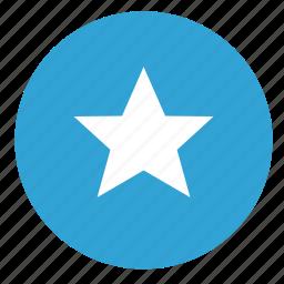 favorite, round, sign, star icon