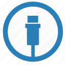 cable, data, port, transfer, usb icon