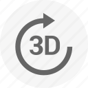 model, modelling, object, rotate, way icon