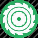 blade, cut, mashine, off, round, wood icon