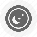 device, mobile, mode, night, round, select, settings icon