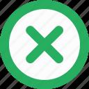 ban, delete, function, round, stop icon