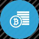 bank, bitcoin, coins, money, value icon
